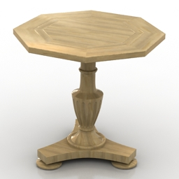 Table classic tea 3d model