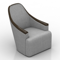 Armchair Georgette Lounge Chair 3d model
