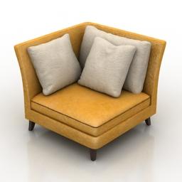 Armchair corner 3d model
