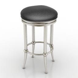 Chair bar hillsdale furniture Cadman Backless Barstool 3d model