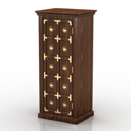 Locker Brihadratha Ornate Book Case 3d model