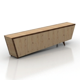 Locker CREDENZA Dialma Brown New 3d model