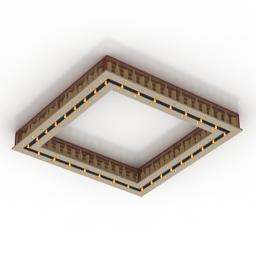 Luster for bar loft 3d model