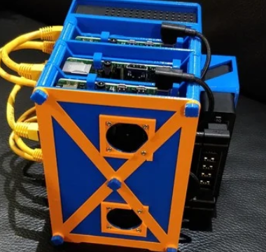 Modular Raspberry Pi 2, 3, 4 Rack