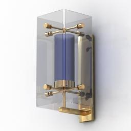 Sconce Fontana Arte Brass 3d model