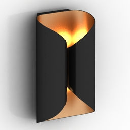 Sconce Holly Hunt Wall Lamp Ombre 3d model