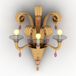 Sconce wall mounted light 3d model