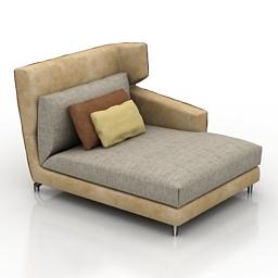 Sofa Folk 3d model