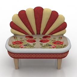 Sofa Kare DesignBank Peacock 3d model