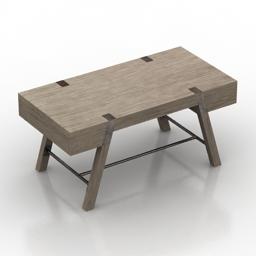 Table Wyatt Desk Sligh BARTON CREEK 3d model
