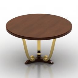Table christopher guy navour round 3d model