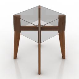 Table coffee Ligne Roset on The Rock 3d model