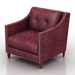 Armchair Blackburn Dantone home 3d model
