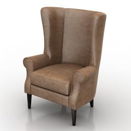 Armchair Bordo Dantone Home 3d model