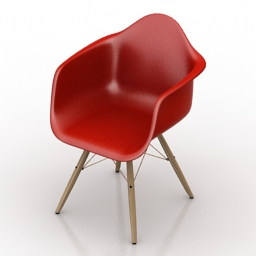 Armchair eames dar chair 3d model