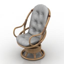 Armchair rotang 3d model