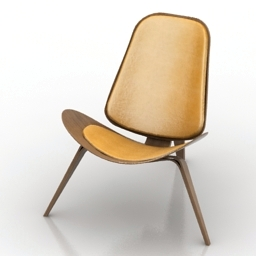 Chair Hans Wegner Shell 3d model
