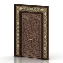 Door Luxury Arabic Islamic 3d model
