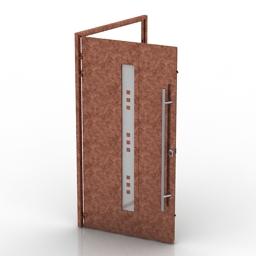 Door metal glass 3d model