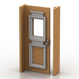 Door opened classic 3d model