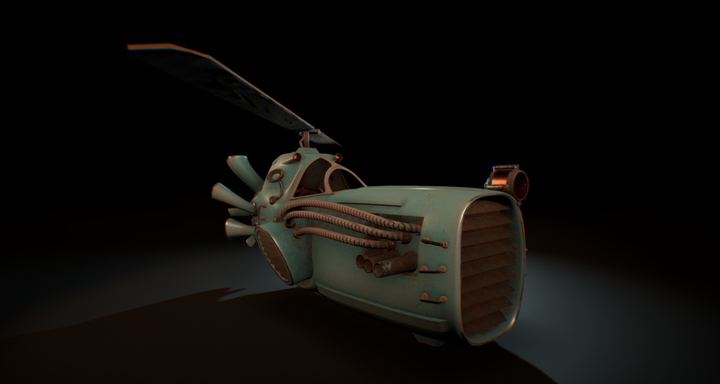 Flying Steampunk Vehicle Downloadfree3d Com