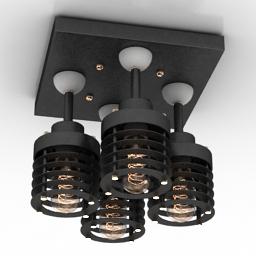 Luster Loft Industry Hard Square 3d model