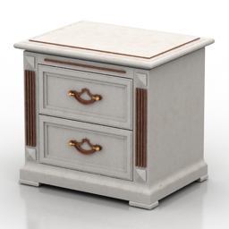 Nightstand Victory Gold 3d model