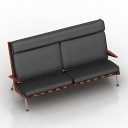 Sofa Peter Hvidt carolinabusinessfurniture 3d model