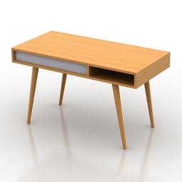Table desk Celine 3d model