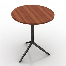 Table round herman miller 3d model