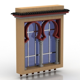 Window Moorish 3d model