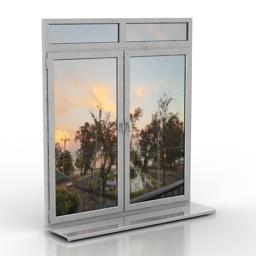 Window plastic 3d model