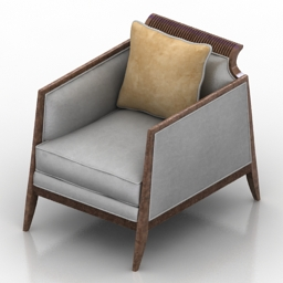 Armchair CARACOLE UPHOLSTERY UPH CHAWOO 75B 3d model