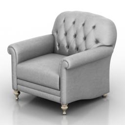 Armchair Oxford Dantone home 3d model