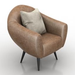 Armchair comfortable 3d model