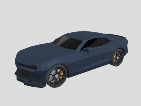 Camaro ZL1 low-poly