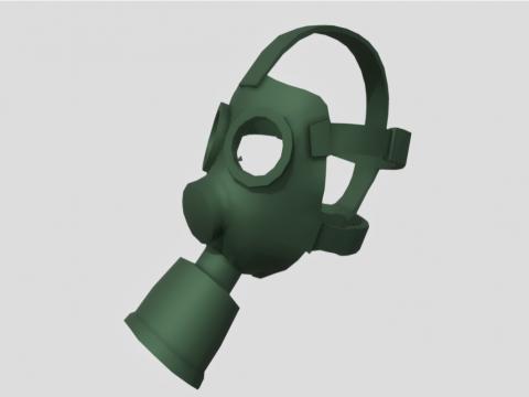 Fallout lowpoly Gasmask