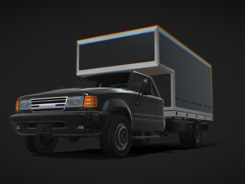 Light Box Truck - Low poly model