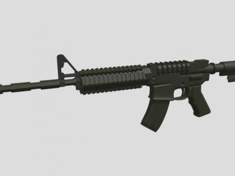 M4 Carbine Game Asset