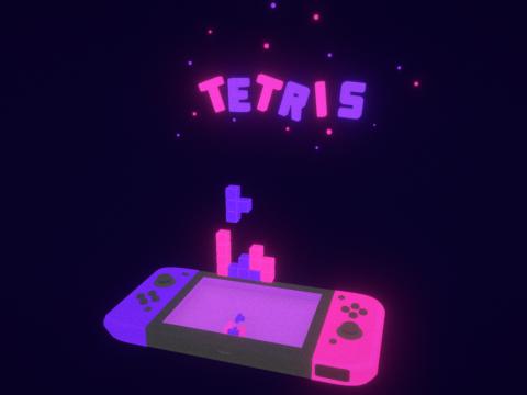 Nintendo Switch Tetris (Bedtime Mode)