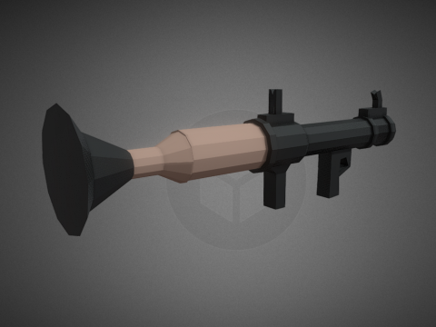 RPG looking like a Bazooka Lowpoly