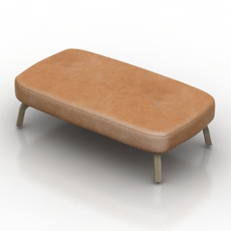 Seat bench lammhults Portus 3d model