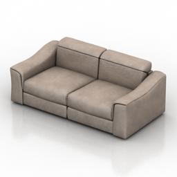 Sofa NATUZZI attesa 2827 3d model