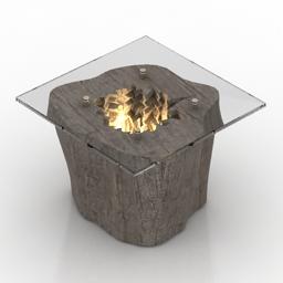 Table stump 3d model