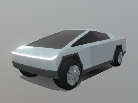 Tesla Cybertruck (Low-Poly)