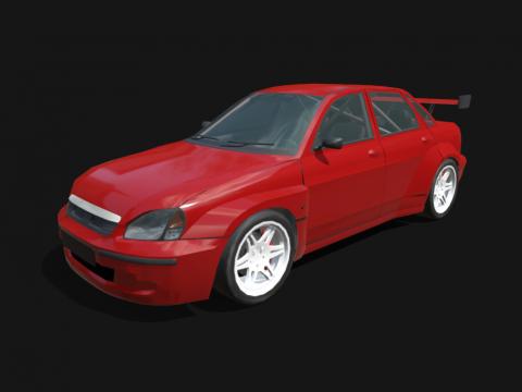 WTCC Racecar Low poly model