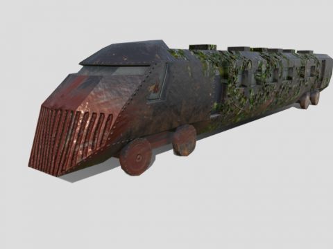 Apocalyptic train (Low poly)