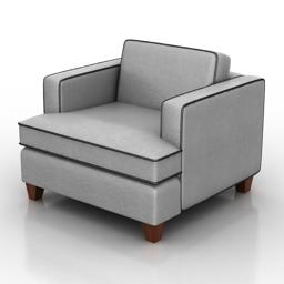 Armchair Fleetwood Dantone home 3d model