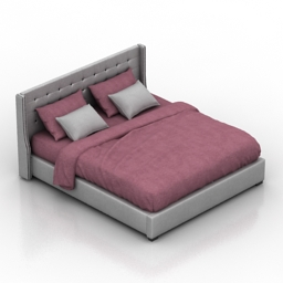 Bed Jarrow Buttons Dantone home 3d model