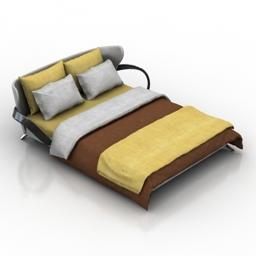 Bed actual design apriori S 3d model